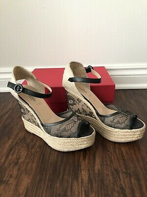 5a137497a77 VALENTINO LACE ESPADRILLE Wedges Size 8 - $130.00 | PicClick