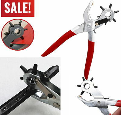 Leather Hole Punch Belt Puncher Tool Hole Maker Heavy Duty Revolving Rotary KY