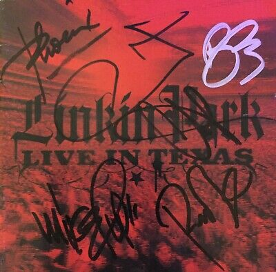 Linkin Park Signed Autograph Live in Texas CD Chester Bennington Framed Shinoda