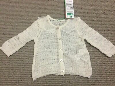 Benetton Baby teeny tiny lacy cardigan, as new 1-3 months