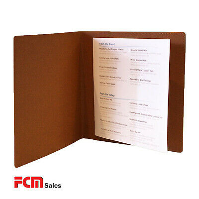 Bulk Buy 15 x Square natural leather Pocket Menu Covers