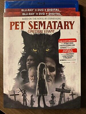 NEW Pet Sematary 2019 Blu-Ray & DVD & Digital Copy Slipcover Canada Bilingual
