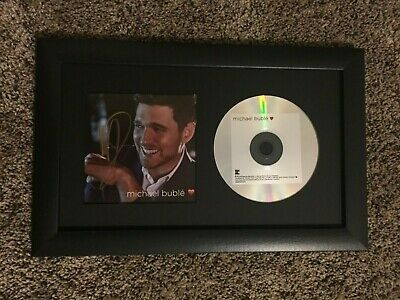 Michael Buble Signed Autograph Love CD Framed & Matted