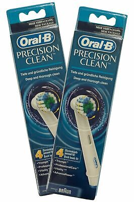8 Original Braun Oral-B Precision Clean Toothbrush Replacement Brush Heads Ty