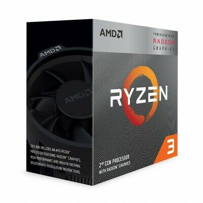 AMD Ryzen 3 3200G 4 Core AM4 CPU 3.6GHz 4MB 65W with Wraith Stealth Cooler Fan