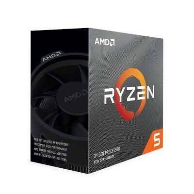 AMD Ryzen 5 3600X, 6 Core AM4 CPU, 3.8GHz 4MB 65W with Wraith Stealth Cooler Fan