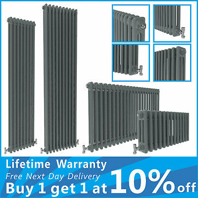 Horizontal Vertical Traditional Cast Iron Style Column Vintage Rads Anthracite