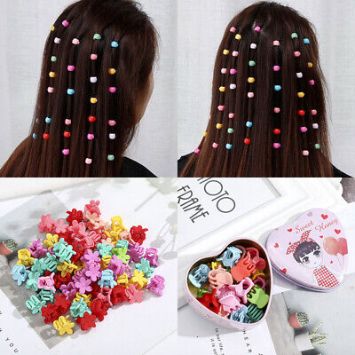 20/30/40/50PCS Women Girl's Candy Mini Hair Claw Clips Pins Grips Clamp Hairpin