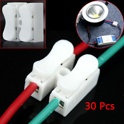 30× Electrical Cable Connectors Quick Splice Lock Wire Terminals Self Locking