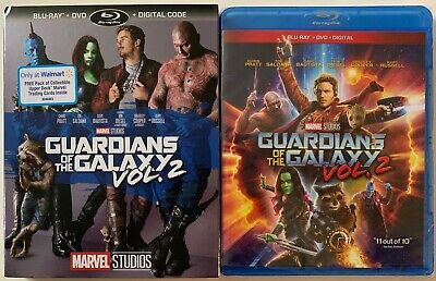 New Marvel Guardians Of The Galaxy Vol 2 Blu Ray Dvd Walmart Exclusive Slipcover