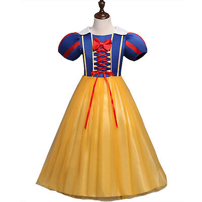 Snow White Girl Kids Princess Dress Party Cosplay Costume Prom Ball Gown Dresses