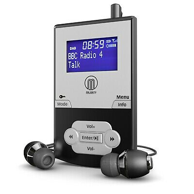 DAB DAB+ Digital FM Radio - MP3 Player (Micro SD Card) - Rechargeable Battery