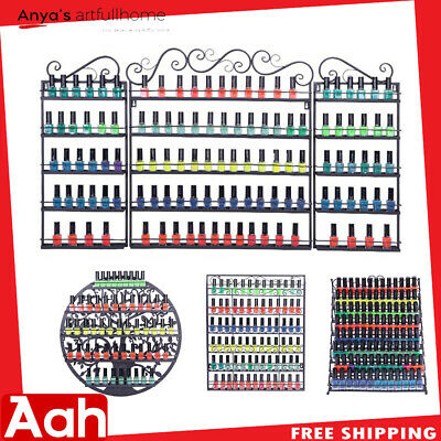 Wall Mounted Nail Polish Display Rack Holder Storage Organizer Metal Shelf Lot