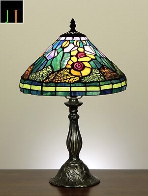 Winter Clearance 12'' Tiffany Sun Flower Style Art Deco Stained Glass Table Lamp