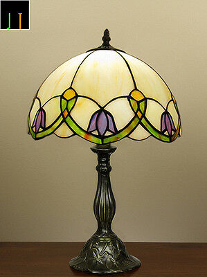 Winter Clearance Tiffany Floral Stained Glass Bedside Table Lamp Art Leadlight
