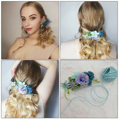 Bridal Flower Hair Comb Floral Hairpin Wedding Hair Clips Slide Accessories