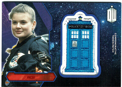 Doctor Who Topps 2015 Tardis Patch Card Ace RED Parallel #01/25