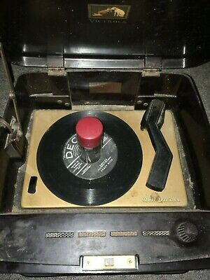 RCA VICTOR BAKELITE 45 Rpm Record Player Model 45 Ey 3 Nice Case