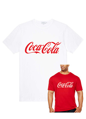 COCA COLA LOGO/SLOGAN T-Shirt/Top red/white Mens Ladies Children novelty