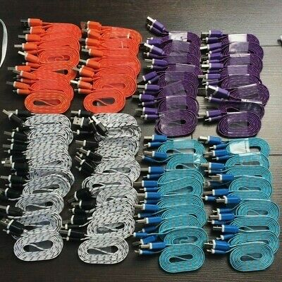 Wholesale JOB LOT Strong Braided USB Sync Data Charger Cable Lead Apple iPhone