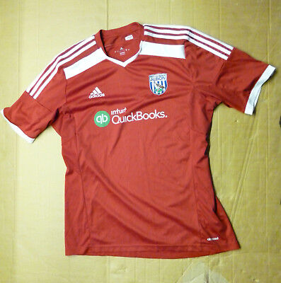 West Bromwich Albion Football Shirt Adidas Adult Size Large Away 2014/15 Red