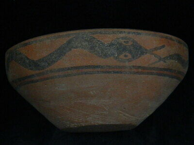 Ancient Large Size Teracotta Painted Bowl With Serpet Indus Valley 2500 BC PT431