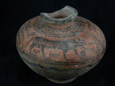 Ancient Large Size Teracotta Painted Pot With Lions Indus Valley 2500 BC #PT350