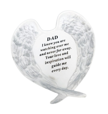 Dad Angel Wings Grave Ornament Memorial Graveside Decoration Special Remembrance