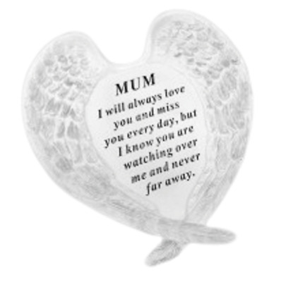 Mum Angel Wings Grave Ornament Memorial Graveside Decoration Special Remembrance