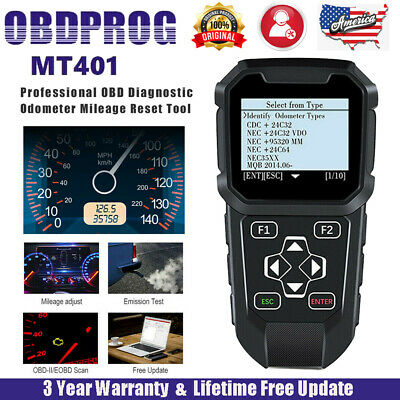 OBDPROG MT401 Odometer Adjustment Mileage Correction OBDII Car Diagnostic Tools