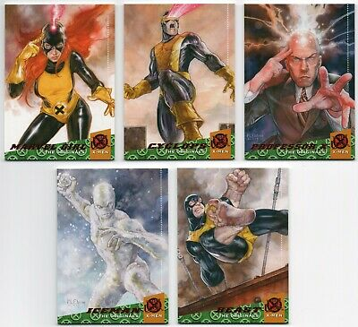 2018 Fleer Ultra X-Men The Originals 10 Cards Complete Set Professor X Magneto +
