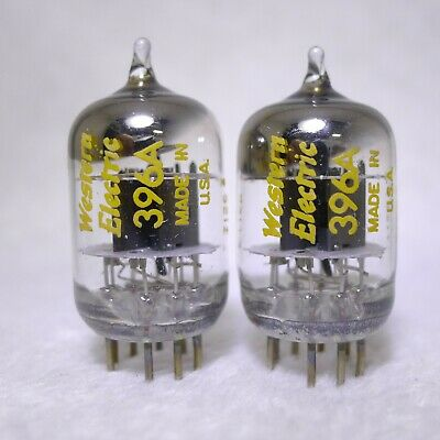 Matched Pair Western Electric 396A/2C51 Square Getter USA 1971 Strong