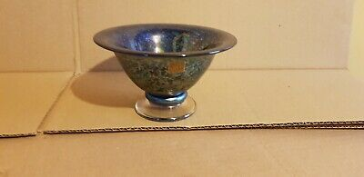 Harris Isle Of Wight Studio Glass Iridescent Bowl Summer Fruits Mulberry