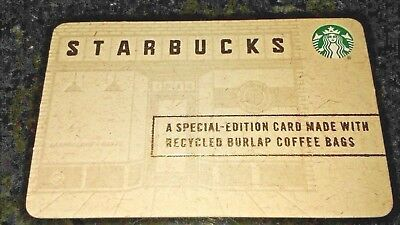 Starbucks SPECIAL EDITION RECYCLED BURLAP New Gift Card
