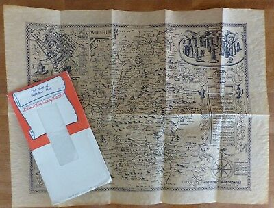 Antiqued Parchment Replica of an Old Map of Wiltshire c.1610
