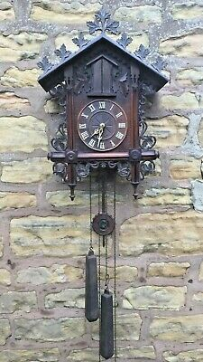 "Antique Black Forest ""Trumpeter"" Cuckoo Clock"