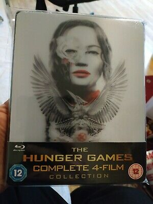 The Hunger Games: Complete 4-Film Collection Lenticular Steelbook (Blu Ray) NEW