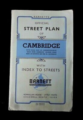 CAMBRIDGE Map Street Plan BARNETT With Street index & Other Maps,Plans & Adverts