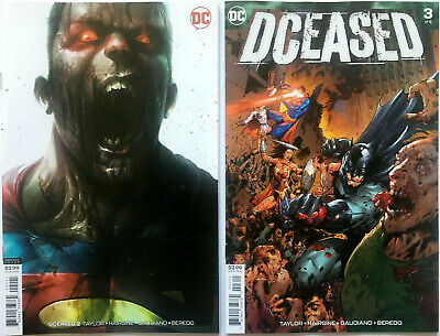 DCeased #2 Francesco Mattina Variant + #3 Cover A  Set of 2 (DC) 1st Print  NM