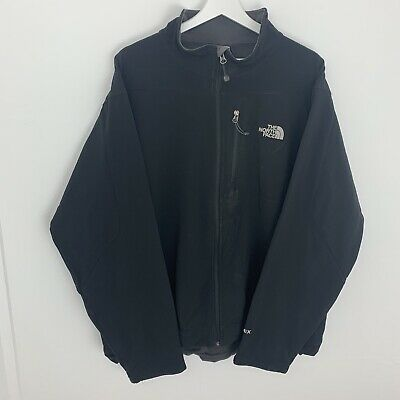 Mens THE NORTH FACE Apex Jacket Coat Soft Shell Size XL Black TNF Waterproof