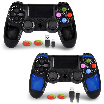 2 Pk PS4 DualShock 4 Controller OUBANG Wireless Remote Joystick for PS -4Black