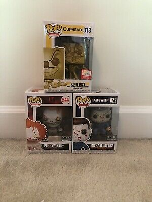 Funko Pop 3 Pck King Dice Pennywise Michael Myers