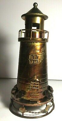 VINTAGE MUSIC BOX Lighthouse lights up and Plays You Light Up My