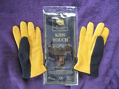 RHS Gold Leaf Kids Touch Gloves - Childrens & Ladies Gardening Gloves in 3 sizes