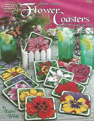 Flower Coasters & Holder Plastic Canvas instruction Patterns ASN 3192 NEW