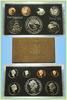 New Zealand 1986 Seven Coins Proof Set