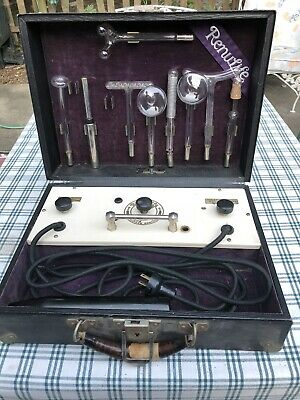 Antique early quack medical device RENULIFE model R violet ray generator Working