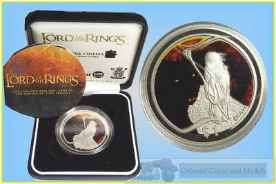 "New Zealand 2003 Lord of the Rings ""the Bridge of Khazad Dum "" $1  Silver Proof"