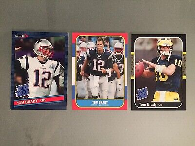 Tom Brady Rated Rookie Card Aceo Rp Qb Hof New England