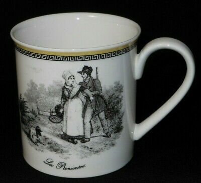 Villeroy & Boch anno 1748 AUDUN CHASSE soldier and lady coffee mug. (3663E)
